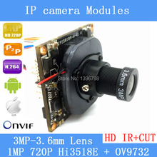 720P Network Upgrade Version Hi3518E + OV9732 1.0MP H.264 3MP 3.6mm Lens Mini Indoor HD CCTV Security Surveillance IP Cameraqing
