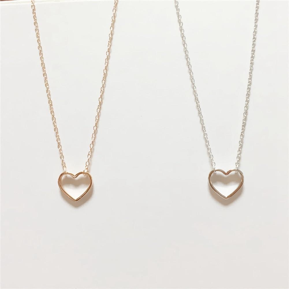 Պարզ ոճով սրտի վզնոց 925 կանանց զարդեր - Նուրբ զարդեր - Լուսանկար 6