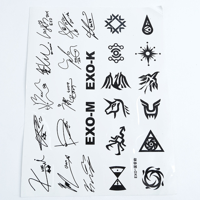 Tool Exo Collective Personal Name Waterproof Tattoo Star
