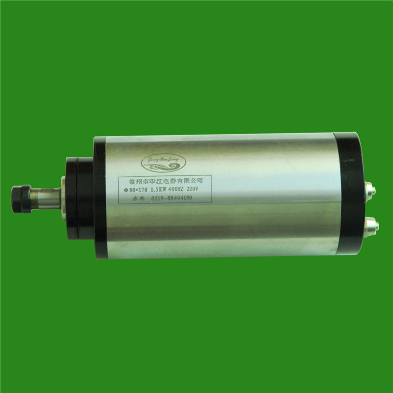 2HP 1.5kw 24000RPM ER11 water cooling Woodworking AC Spindle motor 80mm 4 bearings 220VAC 8A 400hz CNC Router цена