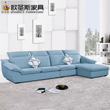fair cheap low price 2017 modern living room furniture new design l shaped sectional suede velvet fabric corner sofa set X189(China)