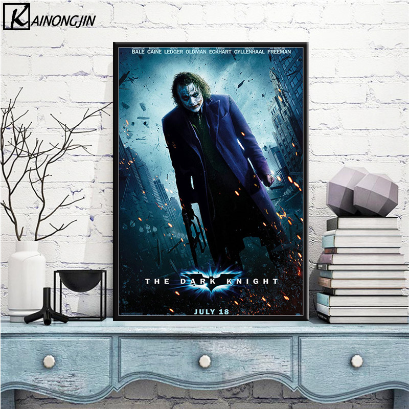 DARK KNIGHT POSTER Heath Ledger Batman JOKER CARD 24X36