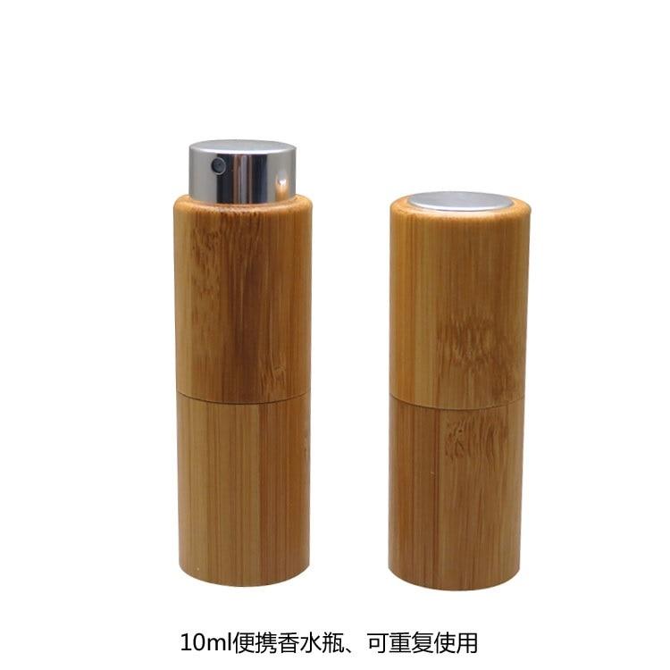 free shipping 10ML 10pcs/30pcs lot Screw Design Empty Bamboo Perfume Bottle DIY Top Grade Glass Scent Spray Bottle Portable цена