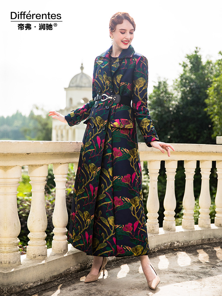 D'hiver Taille X 9008 Chaud Haute Femmes La Fleurs Parka Manteau Coton Veste Longue Qualité Imprimé Plus pRqwBE