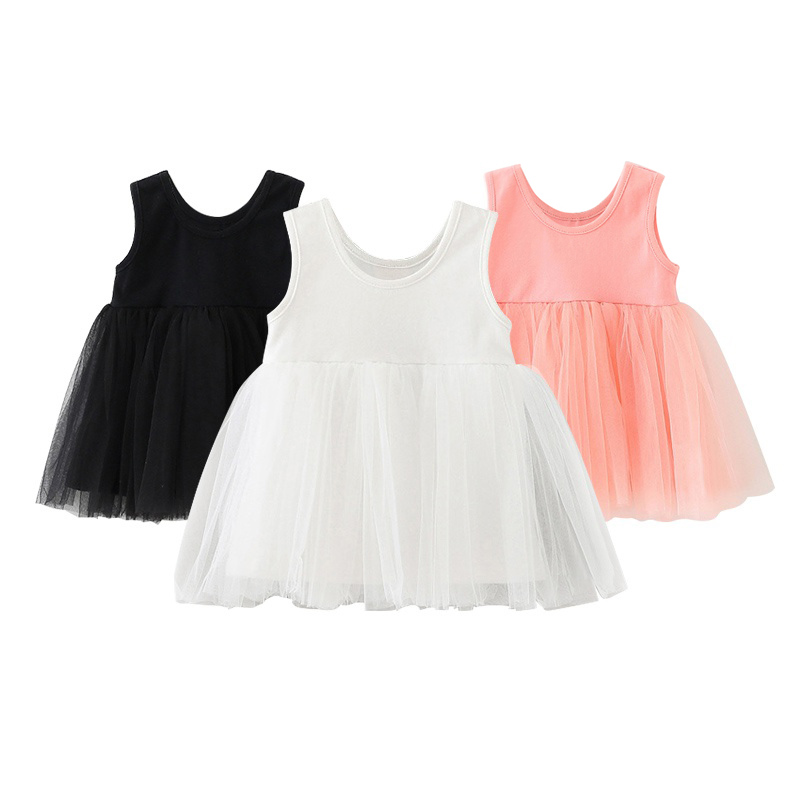 Newborn Summer Baby Girl Dresses Infant Dress Baby Girls Clothes Casual Cotton Clothing kids Birthday Dress 2016 baby girl flutter sleeves summer birthday princess dress cotton frock designs teen kids clothing bulk clothes teenagers