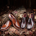 TERSE_100 % Hecho A Mano Italiano de Cuero Genuino Hombres Zapatos de Lujo de Cuero de vaca Diseñador Hombres Goodyear zapatos de la Fábrica al Cliente