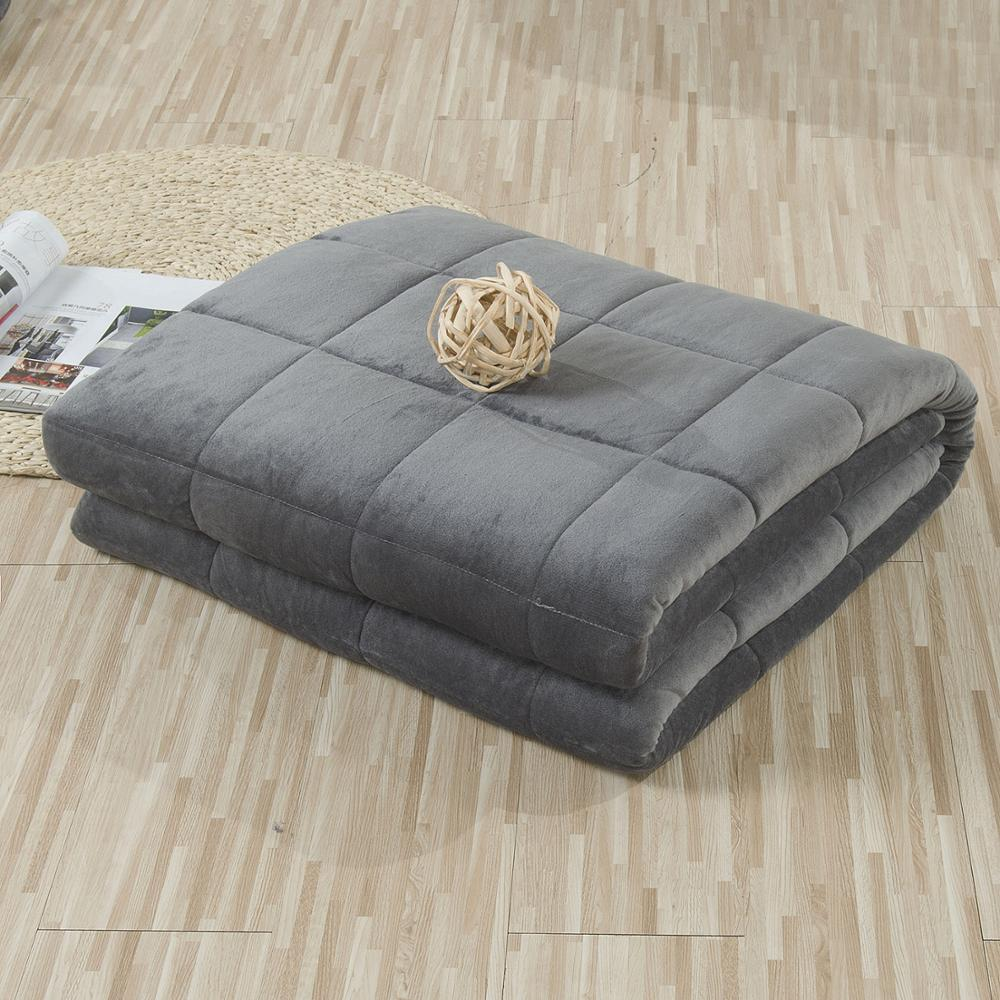 SunnyRain 1-Piece Weighted Blanket for Adult Gravity Blankets Sleep-conducive Cross-shaped Quilted