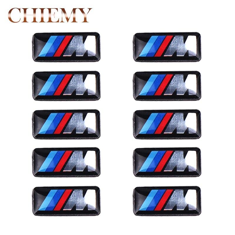 10Pcs Car styling Tec Sport Wheel Badge 3D M small Emblem Sticker Wheel Decal Fit for BMW X1 X2 X3  X5 M1 M3 M5 M6 Car Sticker