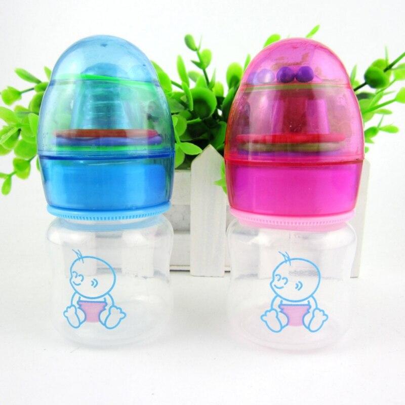 Cute Baby Bottle Infant Newborn Cup Children Learn Feeding Drinking Handle Bottle kids Straw Juice Water Bottles