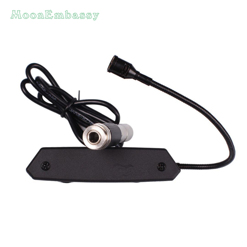 MoonEmbassy Active Acoustic Guitar Soundhole Pickup with Microphone for Fingerstyle Guitar 20pcs new style soundhole rosette acoustic body project maple guitar parts