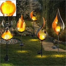Solar LED Simulate Flame Light Lawn Lamp Outdoor Waterproof Lights for Walkway Path Garden LED Landscape Lamps For Christmas solar led flame flashing lawn lights quality creative new year garland waterproof outdoor landscape street garden lamp yy 9605 5