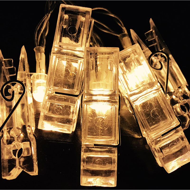 Photo Φωτισμός τοίχου Φώτα DIY Κάρτα Φώτα - Φωτισμός διακοπών - Φωτογραφία 4