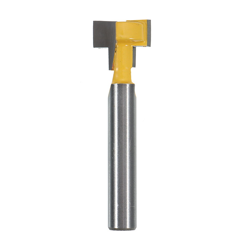 1PC 1/2 Inch Shank T Slot Router Bit Carbide Wood Milling Cutter Woodworking Gear Drill 6mm Cutter Router Bit 1pc durable mayitr cnc carbide alloy woodworking milling cutter straight end 1 2 shank 2 1 4 dia bottom cleaning router bit