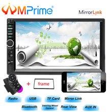 """AMprime 2 din auto radio 7 """"HD Bluetooth Auto Lettore Radio Controllo del Volante Multimediale USB/TF/ FM Autoradio Macchina Fotografica di Sostegno Dell'automobile"""