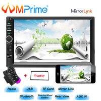 AMprime 2 din car radio 7 HD Player Bluetooth Car Radio Steering Wheel Control Multimedia USB/TF/FM Autoradio Car Backup Camera