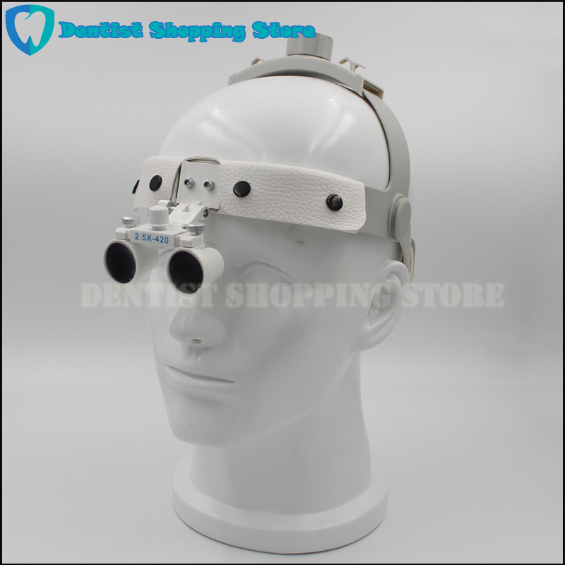 2.5X 3.5X headset Dental Loupe magnifier Head wear surgical loupes surgeon medical enlarging lens surgical magnifier