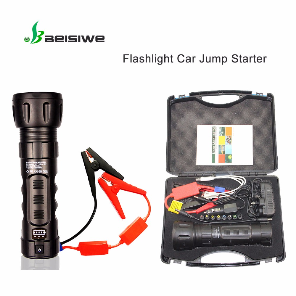 BEISIWE car jump starter portable 12V auto emergency booster battery