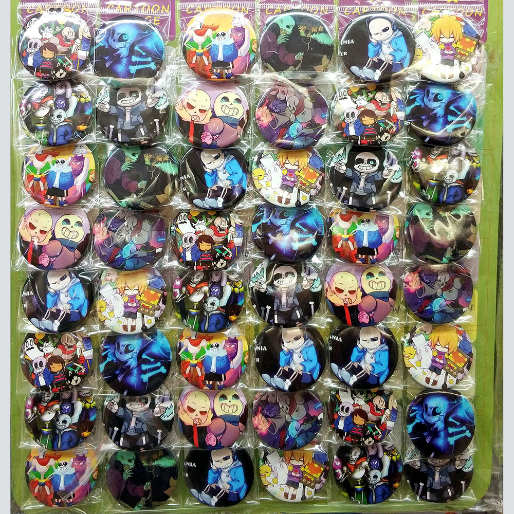 Love Thank You Undertale 45MM 16/24/32/40/48 pcs lot PIN BACK BADGE BUTTON BROOCH for BAG GIFT TOY CLOTH Anime Party Xmas surprise primary 2 test book