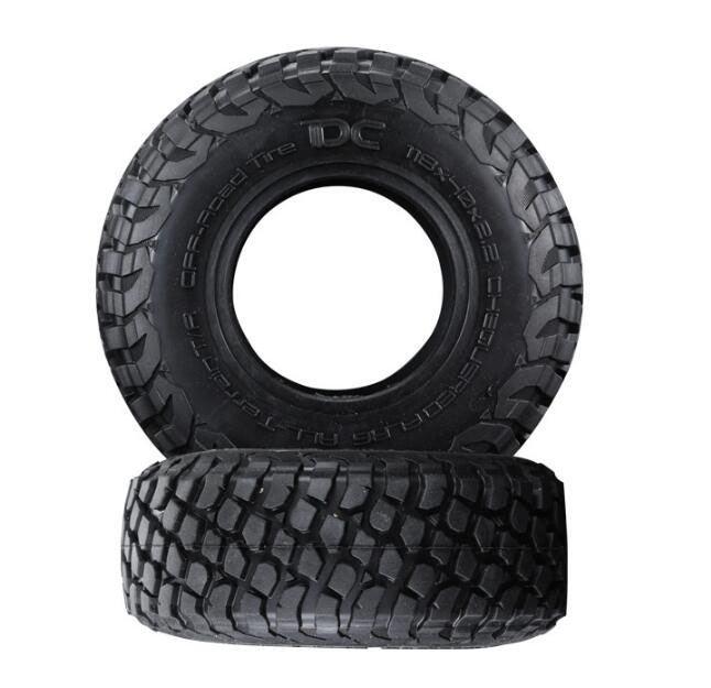 Free Shipping 2.2 Inch BAJA All-terrain Off-road Tires 118mm Rubber Tire Skin For 1/10 RC Crawler Car Fit Axial SCX10 RC Crawler mxfans rc 1 10 2 2 crawler car inflatable tires black alloy beadlock pack of 4