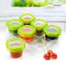 6Pcs Set 60ML Complementary Feeding Cup Blocks Baby Food Supplement Storage Box/Food Container/Snack Box/Cutlery Boxes