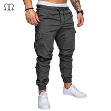 49dfdaa0ce12e Marka Erkek Pantolon Rahat Sıska Streç Çok cep Pantolon Eşofman Altı  Erkekler Için Haki Kargo Pantolon