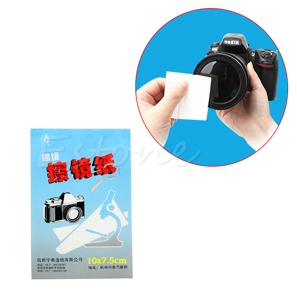 1pc 50 Sheets Soft Camera Lens Optics Tissue Cleaning Clean Paper Wipes Booklet