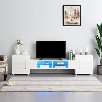 230cm TV Unit Stand - Led Lights , High Gloss Door Cabinet White /Black/ Grey/Brown стойка для акустики elac stand ls 50 high gloss white