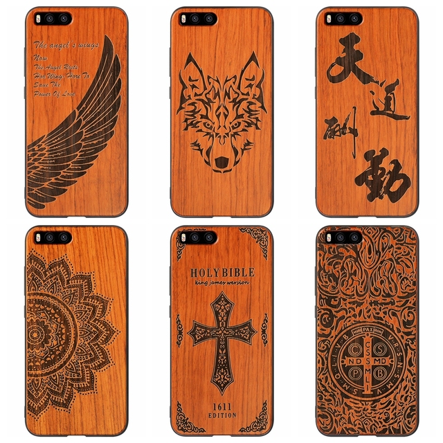 hot sale online 94911 b39c6 US $9.99 |HOT Protective Cell Phone Cover For Xiaomi 6 Shockproof Wooden  Xiaomi Mi6 Mi 6 Mi5 Mi5 S MIX Wooden Phone Case Wings Wolf Totem-in Fitted  ...