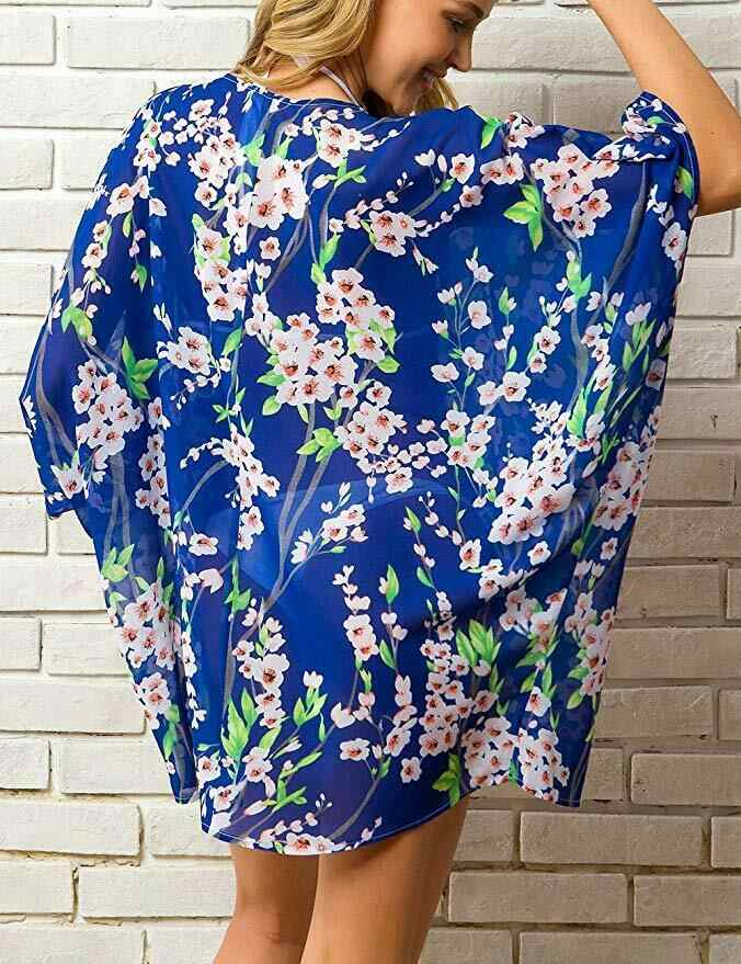 13 kleuren Hot Zomer Vrouwen Bloemen Kimono Swim Cover-Ups Vrouwelijke Strand Boho Vest Baden Tops Beach Bikini Cover up Outfits