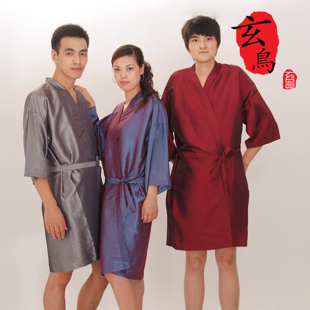 Color kimono with sleeves Barber Wai cloth hair circumference cloth overalls Beauty Beauty clothes A03