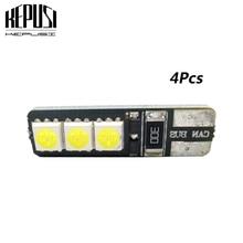цена на 4pcs/lot T10 W5W Canbus 6 SMD 5050 194 12V No Error Free Car Tail Turn Indicator LED Bulbs Light Lamp Tail lights Light Bulb