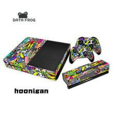 Hot Selling Hoonigan Skin Sticker Cover for Microsoft Xbox one 1 Console and Controller Covers Sticker bomb stickers for x box