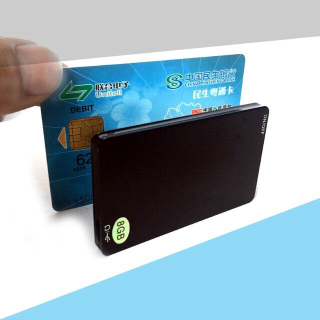 מקצועי 8GB כרטיס סוג דיגיטלי קול מקליט תמיכה MP3 WAV נגן הקלטת זמן עד 80 שעות SK911