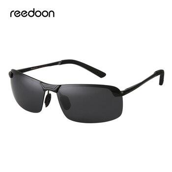 Reedoon okulary przeciwsłoneczne spolaryzowane UV400 obiektyw magnezu z Aluminium rama jazdy gogle dla mężczyzn kobiety wędkowanie marka projekt fajne 3043