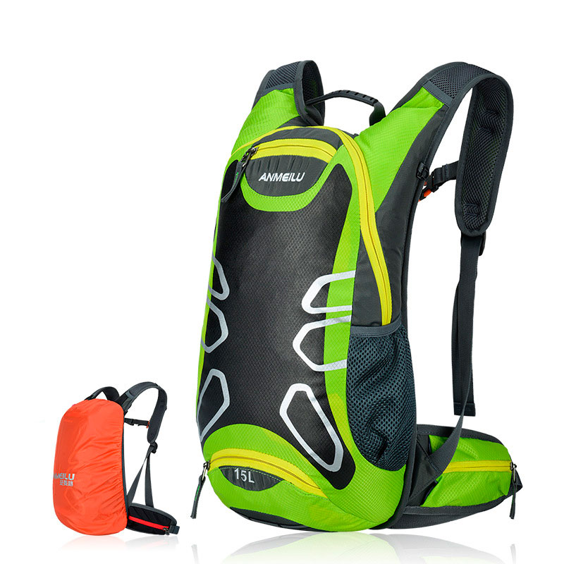 15L Outdoor Sports Waterproof Backpack Shoulder With Rain Bag Cycling Bike Backpack Mountain Bicycle Travel Hiking