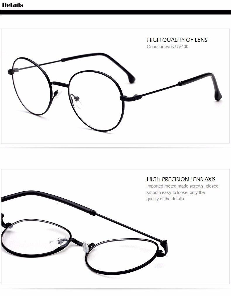 Retro Vintage Runde Optischen Brillengestell Korea Stil Metall Blume ...
