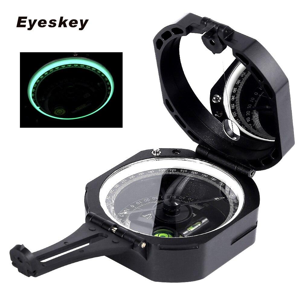 Boussole militaire de survie extérieure légère de boussole géologique professionnelle de Eyeskey pour mesurer la Distance de pente