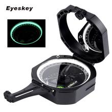Eyeskey profesjonalny kompas geologiczny lekki kompas wojskowy do pomiaru odległości nachylenia tanie tanio Typu handheld Other Wskaźnik Wskazując przewodnik 3 2 x 2 8 x 1 4 (in) HIKE Green Black 3 7oz