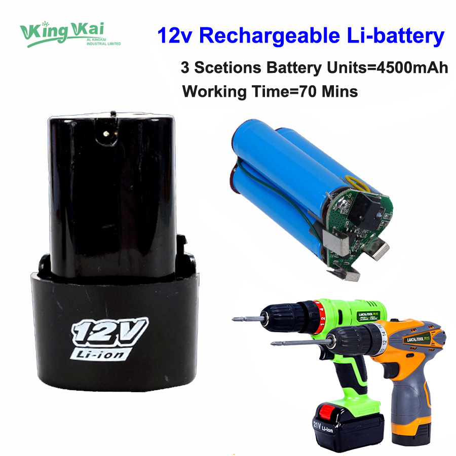 12V 16.8V 21V Cordless Rechargeable Lithium Battery For Electric Drill Screwdriver Power Tool Extra Lithium Battery 2000mah rechargeable lithium battery pack for nds lite with screwdriver
