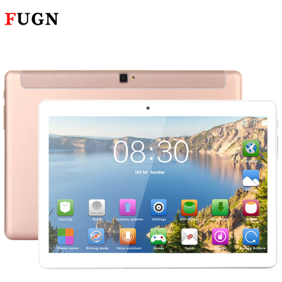 FUGN Original Tablets 10 inch 1920x1080 4G LTE SIM Phone Call Tablet PC Octa Core Bluetooth WIFI GPS Android 4GB+64GB Keyboard 8 bmxc brand octa core metal 4g tablet pc 10 1 inch tablets android tablet 10 1 1920 1200 screen phone call tablet gps wifi 10