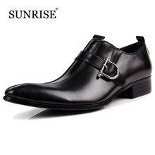 2017New Arrival Man Genuine Leather Flats Slip on Pointed Toe Men Oxfords Casual Fashion Zapatos Men Dress Shoes formal shoes