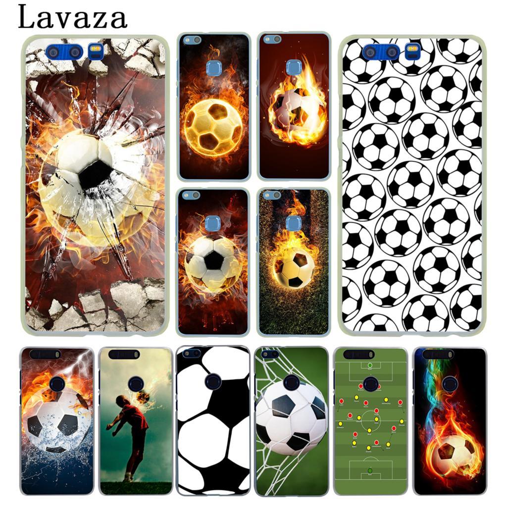 Lavaza Fire Football Soccer Ball Hard Case for Huawei Y6 Y5 Y3 II Y7 2017 Nova 2 Plus 2S 2i & Honor 9 8 Lite 7 7X 6 6A 6X Cover