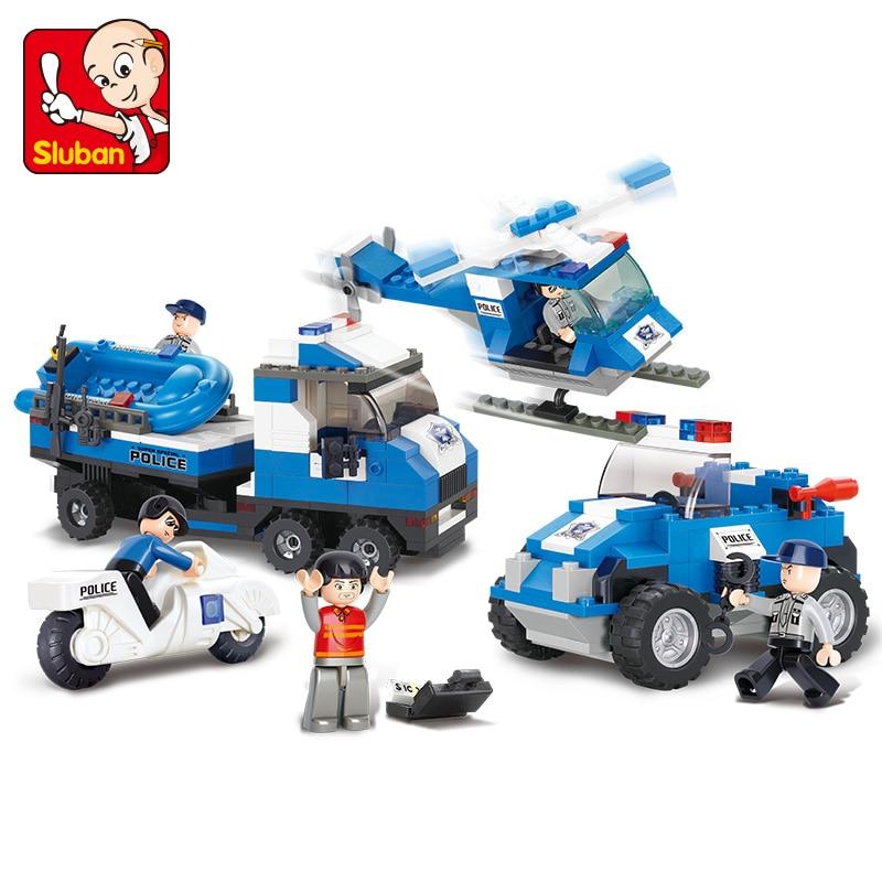 Модель S совместим с Lego City полицейский вертолет модели Building Наборы Блоки Игрушки Хобби хобби для мальчиков и девочек