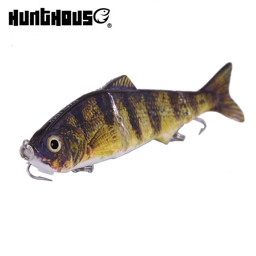 Hunthouse Wobblers pike perch muskie Fishing Lure multi sections Multi Jointed Lifelike fishing lure Swimbait banshee 127mm 21g nexus voodoo atj01 swimbait two sction multi jointed topwater walk dog stickbait floating pencil
