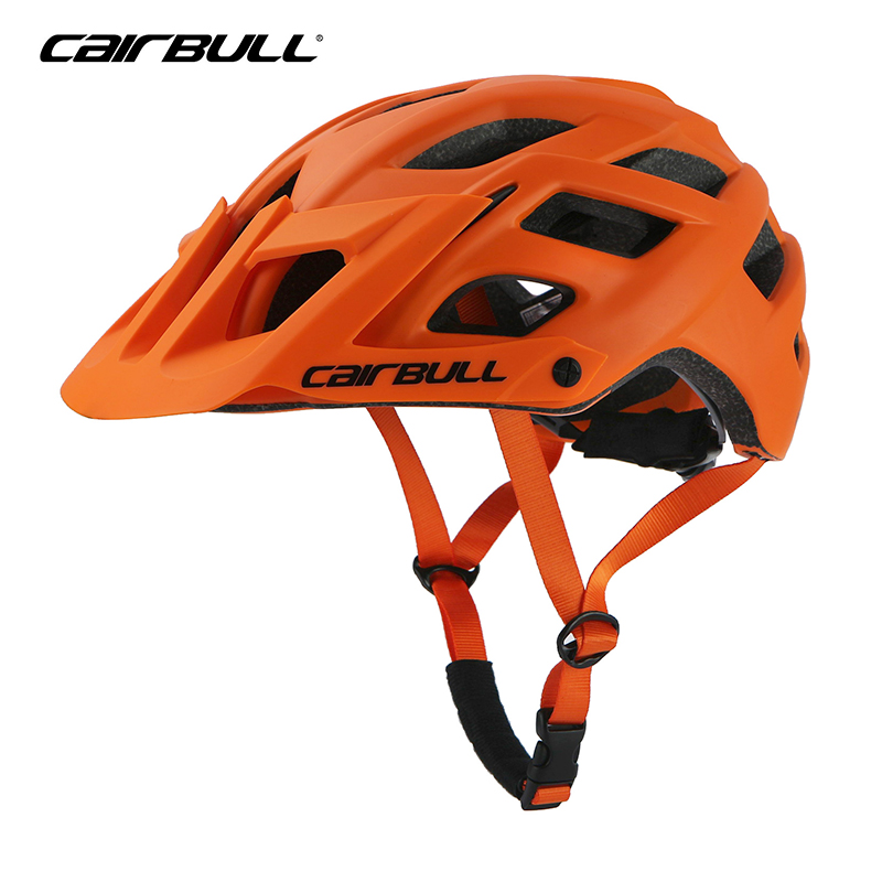2018 New Bicycle Helmet Mountain Road BMX Cycling Sports Safety Helmet Head Protect M/L Unisex Off-road Helmet With Visor Orange child bicycle helmet safety mountain road bike helmet for skating skateboard climbing mtb bmx cycling helmet orange l