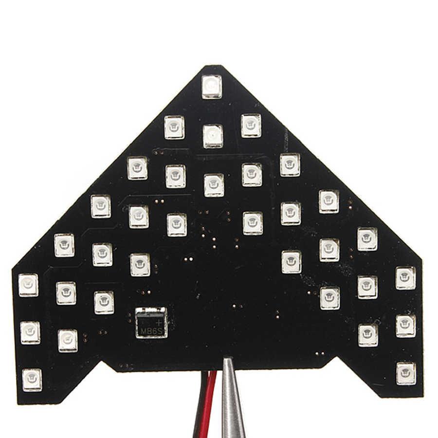 2 sztuk/zestaw 33/14 led smd strzałka panele lusterko boczne samochodu włącz wskaźnik sygnału kolejnych 5 kolorów latarka lampa G