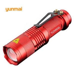 Image 3 - Mini lampe de poche Portable lampe de poche LED Q5 LED étanche lm, 5 couleurs, 1 mode, zoom, torche LED, AA 14500