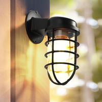 IN JUICY Retro Outdoor Waterproof Staircase Aisle Wall Lamp Antique LED Exterior Courtyard Wall Light Balcony Garden Wall Sconce