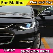 Фар автомобиля для налобный фонарь для Chevrolet Malibu XL светодиодный фар 2017 2018 DRL H7 ксеноновая лампа Plug And Play Дизайн светодиодный головного света