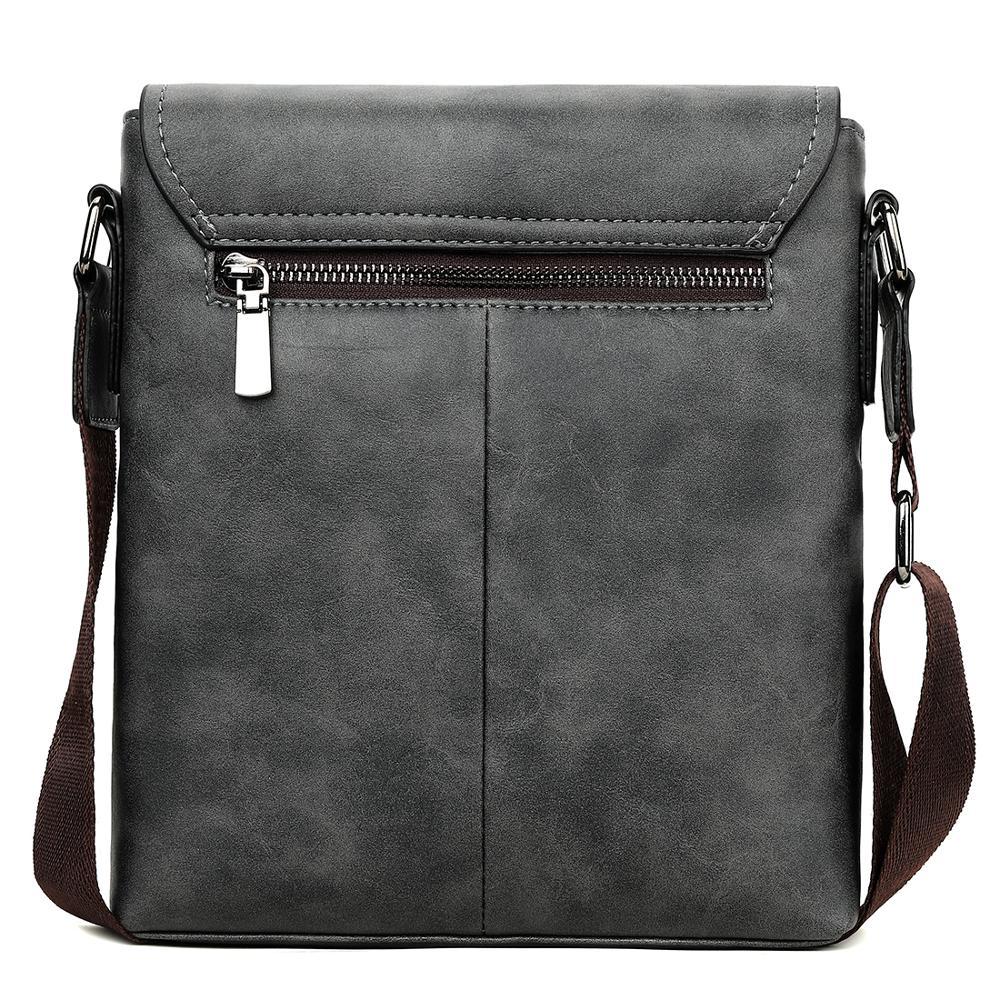 Image 2 - VICUNA POLO Vintage Frosted Leather Messenger Bag For Man Brand Business Man Bag Men's Shoulder Bags Front Pocket Men Handbag